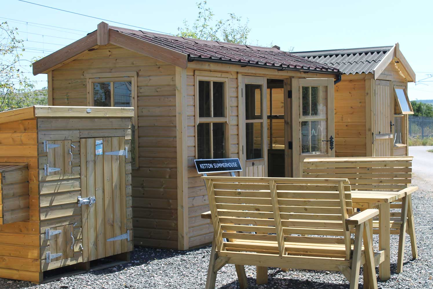 Garden buildings and sheds at The Pot Place Plumpton Cumbria