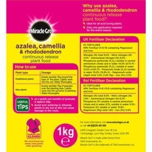 Miracle-Gro Azalea, Camellia & Rhododendron Continuous Release Plant Food