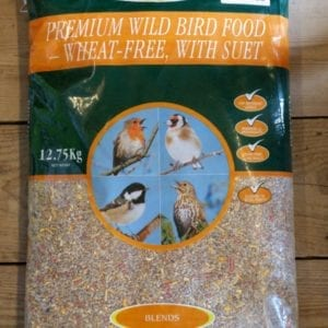 Premium Wild Bird Food - Wheat Free with Suet