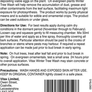 Vitax Winter Tree Wash Instructions