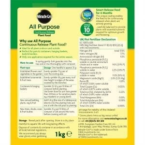 Miracle-Gro Controlled Release Plant Food instructions